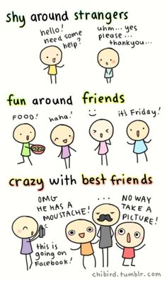 Levels of Friendship - so true.