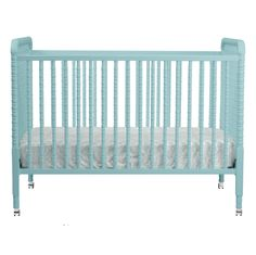 Jenny Lind Crib in Lagoon Blue - we think this is the perfect crib for a vintage-inspired nursery!