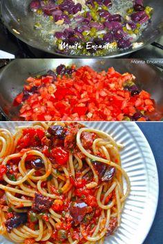 Molho Alla Puttanesca, molho prático e rápido de tomate com azeitonas pretas e alcaparras.