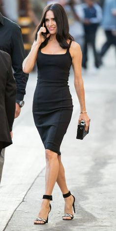 """hollywood-fashion: """"Jennifer Connelly in The Row arriving for an appearance on Jimmy Kimmel Live promoting American Pastoral on October """" Sexy Jennifer Connelly, Hollywood Fashion, Celebrity Red Carpet, Celebrity Style, Red Carpet Looks, Mode Style, Beautiful Actresses, Daily Fashion, Nice Dresses"""