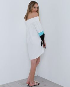 Hey There Off-The-Shoulder Dress - White #festival #cochella