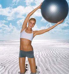 Balance Ball Bosu Charts - Stability Swiss Ball Exercise Wall Chart