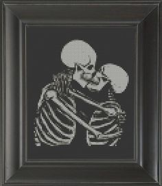 Skeleton Kiss - Cross Stitch Pattern Chart #crossstitch #charts #patterns #crasscross #peteseazle #crafts #embroidery #diy