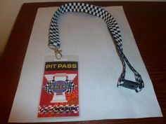 "Cars Land Pixar California Adventure Disneyland Radiator Springs Racers Pit Pass Grand Opening 2012 Lanyard Necklace. Plastic clip closure 16"" drop. Just been stored away. $2.50"