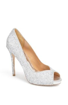Badgley Mischka 'Kassidy' Glitter Pump available at #Nordstrom