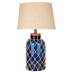 Camras Table Lamp   Blue