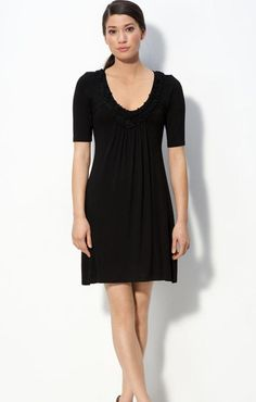 Casual Black Knitted Dress