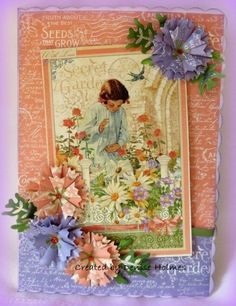 Loving this Secret Garden card from Denise Holmes! #graphic45 #cards