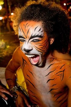 A performer from Zoo Project in Ibiza, Spain.