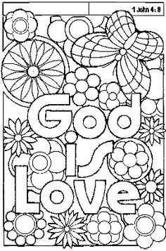 God is Love coloring sheet | Valentine\'s Day | Pinterest | Sunday ...