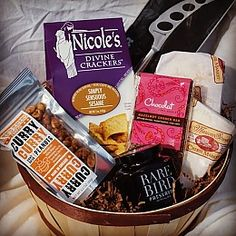 Another gift basket with cheese made in America.