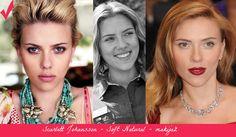Scarlett Johansson - Soft Natural. Best makeup (left) vs. wrong makeup.