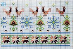 Gallery.ru / Фото #47 - Vintage Greek Charts - Dora2012 Dmc Cross Stitch, Cross Stitch Borders, Cross Stitch Patterns, Greek Pattern, Hippie Crochet, Greek Design, Fabric Art, Handicraft, Weaving
