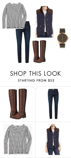 """Boots"" by oliviaf14 on Polyvore featuring Frye, J.Crew, Vineyard Vines and Uniform Wares"