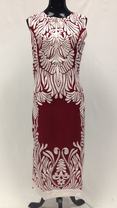Thread Work Embroidery Kurta - Maroon & White