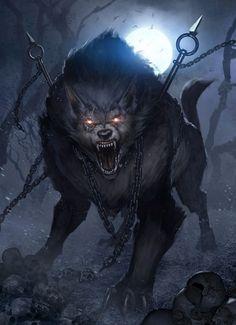 The various names of the norse wolf of the apocalypse: Fenrir (Fen-Dweller), Fenrisúlfr (Fenris Wolf), Hróðvitnir (Fame-Wolf), Vánagandr (The Monster of the river Ván), Sköll (Mockery), Mánagarmr (Moon-garmr), Háti (Hatred)