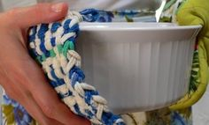 How to turn old socks into groovy potholders.