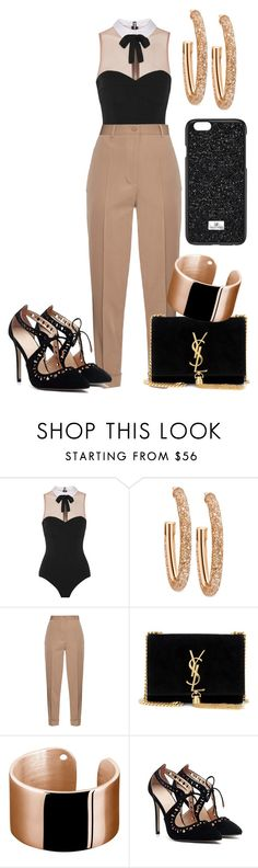 """Untitled #275"" by dreamer3108 on Polyvore featuring Fleur du Mal, Swarovski, Bottega Veneta and Yves Saint Laurent"