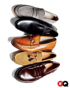 Loafers are slimmer and come in different textures. The spring must have.