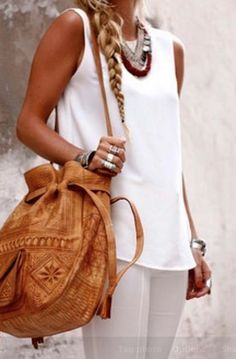 Summer time! Crisp Whites on tanned skin & silver jewellery..Perfect