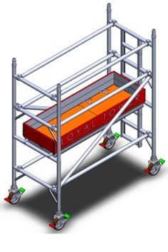 """Loyal Industrial Aluminium Scaffold Tower   Single Width - 1.05m wide x 2m long (3'6"""" wide x 6'7"""" long) - 3.3m (10'10"""") Working Height - Our Unbeatable Price:   £404.99"""