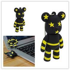 USB Flash Drive POPOBE Bear 16GB High Capacity USB2.0 Memory Stick