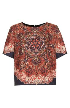 Topshop Folk Print Tee available at #Nordstrom