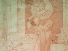 """DOMINIQUIN (d'Après) - St Nil guérit un Jeune Possédé avec l'Huile de la Lampe, Sanguine (drawing, dessin, disegno-Louvre INV9146) - Detail 09  -  TAGS /  details détail détails detalles """"dessins 17e"""" """"17th-century drawings"""" sketch sketches Museum """"Domenico Zampieri"""" """"Le Dominiquin"""" """"saint Nil"""" kid kids Bible man men hommes portrait portraits face """"little boy"""" garçon baby bébé Jésus Vierge Virgin people women female faces """"jeune femme"""" """"young woman"""" turban oriental prière prayer """"red chalk"""""""