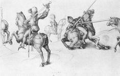 Dürer, Albrecht: Fechtende Reiter