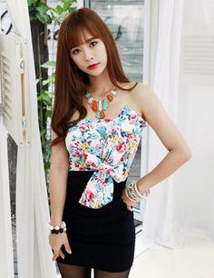 Brand New Stylish Sexy Bowknot Strapless Slim Dress       _Club Wear_Wedding&Events_Wholesalekingdom.net