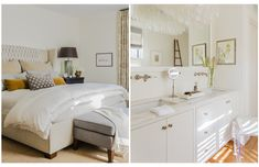 The master suite includes a new bath and dressing room carved out of a small extra bedroom.