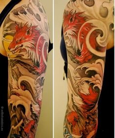 Fox tattoo - Are you a Naruto fan? This tattoo nails it! #TattooModels #tattoo