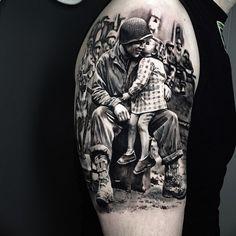 Great Tattoos, Beautiful Tattoos, Tattoos For Guys, Life Tattoos, Body Art Tattoos, Sleeve Tattoos, 3d Tattoos, Soldier Tattoo, British Tattoo