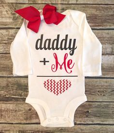 A personal favorite from my Etsy shop https://www.etsy.com/listing/259793549/valentines-day-bodysuit-valentines-daddy
