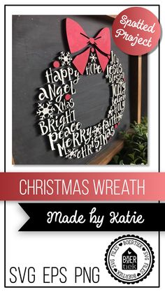 laser Christmas wreath 😍 made by Katie Christmas Wreaths To Make, Christmas Door Decorations, Christmas Wood, Christmas Signs, How To Make Wreaths, Christmas Projects, Christmas Ornaments, 3d Laser, Laser Cut Wood