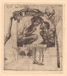Ex Libris Bookplates Death   Danse Macabre/memento mori in Ex Libris (Bookplates)