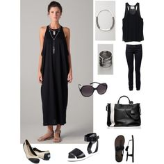 Negligé black, created by divineshape on Polyvore