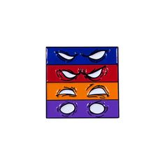 """Four of the coolest brothers ever. -soft enamel pin -approximately 1"""" tall -logo engraved on back -rubber clutch"""