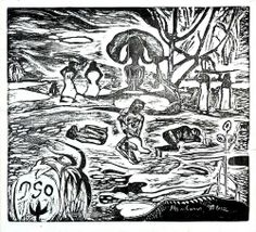 Paul Gauguin, L'Univers Est Cree (Creation of the Universe), woodblock print