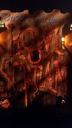 Howl-O-Scream tampa fl 2014.