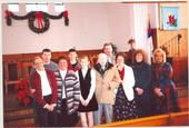Some of Ferguson clan during Christmas season at Portsmouth First Nazarene in late 90's