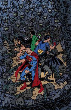 Superman & Batman: Generations III by John Byrne Marvel Comics, Dc Comics Superheroes, Dc Comics Art, Marvel Dc, Superman And Lois Lane, Batman And Superman, Superhero Characters, Dc Comics Characters, Comic Book Covers