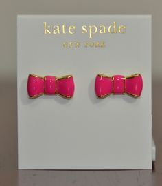 I want to get these for my little sister so bad! But, she doesn't need Kate Spade earrings :/