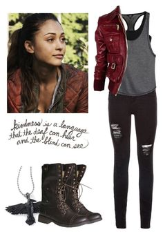 Raven Reyes - the 100 by shadyannon on Polyvore featuring polyvore moda style Gucci Hurley fashion clothing