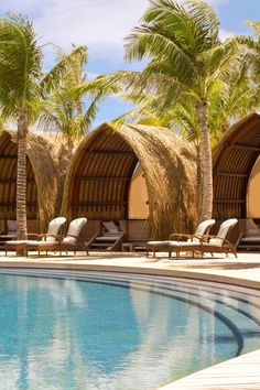 Relax in the five poolside cabanas after a leisurely dip in the expansive pool. Swim with reef sharks and cuddle a stingray on a lagoon eco-tour aboard a traditional outrigger. Sign up for an island tour and discover cannons tucked into mountain-top rainforests by American forces during World War II. #Jetsetter
