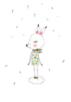 "An adorable print, titled ""my deer"", by Argentinian artist Paola Zakimi!"