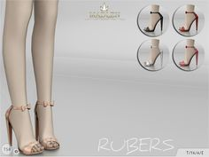 Madlen Rubers Shoes  You cannot change the mesh, but feel free to recolour it as long as you add original link in the description.  If you can't see this creation in CAS, please update your game.  If you're experiencing thumbnail problem, update your...