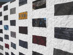 The Aftercraft: Silk tie Quilt - a rememberance quilt made from a father's neckties.