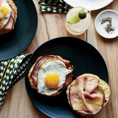 Scallion-flecked buttermilk biscuits help make these breakfast sandwiches—stuffed with ham, cheddar cheese and fried eggs—so outrageously good.