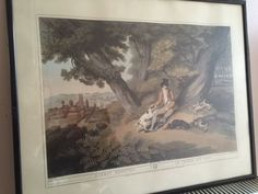 Framed Antique Print from Orme s Collection of British Field Sports